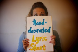 Exclusive Treat - a hand-decorated lyric sheet of your choice of song from the EP