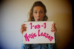 Exclusive Treat - a 1-on-1 music lesson, either via Skype or in person